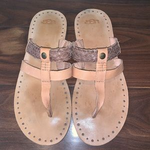 Ugg Audra Leather Sandals Size 7